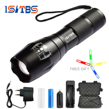 ISLTBS Big Promotion Ultra Bright CREE XM-L T6/L2 LED Flashlight 5 Modes 3800 Lumens Zoomable LED Torch 18650 Battery + Charger(China)