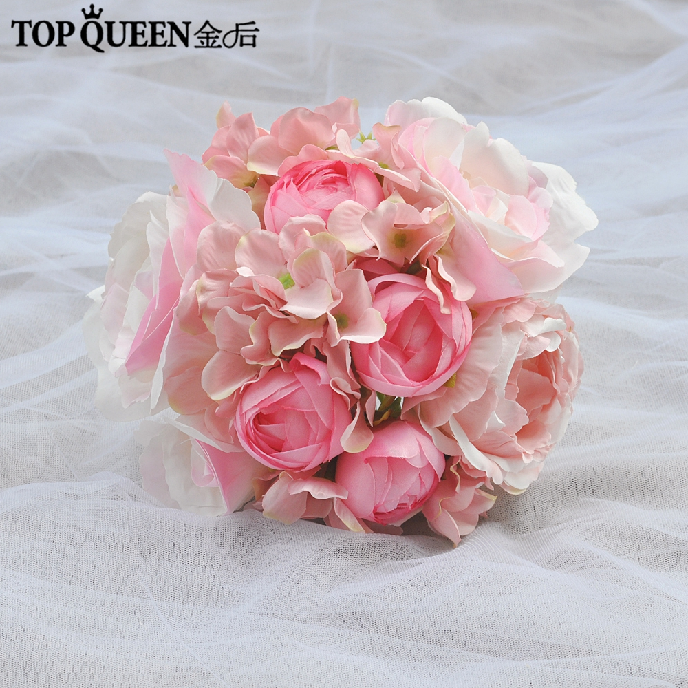 Buy Pink Champagne Forest Bridal Bouquets White Rose Peony Wedding