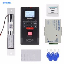 DIYSECUR Fingerprint Id Card Password Keypad Door Access Control System Kit + Electric Bolt Lock for Office / House(China)