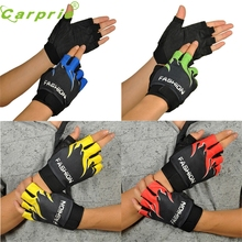 Drop ship New Fashion Motorcycle Outdoor Sports Bicycle Cycling Biking Hiking Gel Half Finger Fingerless Gloves Mar716