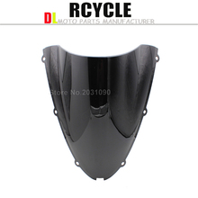 black HotSale Windshield WindScreen For Kawasaki ZX6R zx6r 636 2005 2006 2007 2008 05 06 07 08 ZX10R zx10r 2006 2007 06 07(China)
