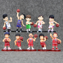 2 Style 5pcs/lot SLAM DUNK Shohoku Basketball Player Anime Figure Doll Hanamichi Sakuragi Rukawa Kaede Free Shipping