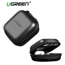Ugreen Headphone Case Bag Portable Earphone Earbuds Hard Box Storage for Memory Card USB Cable Organizer Mini Earphone Bag(China)