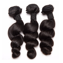 ALIPOP Loose Wave Brazilian Hair Weave Bundles Human Hair Bundles Remy Hair Extensions Natural Black 1PC Can buy 3/4 bundles(China)