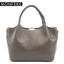 Buy MONFERE 100% Genuine Leather Bucket Bag Women 2018 casual top-handle Shoulder Bags Brand Designer Ladies Crossbody messenger Bag for $39.10 in AliExpress store