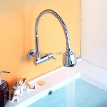 Longer kitchen tap with universal spout bathroom lavatory basin rotating single cold water tap outdoor garden wall tap bibcocks