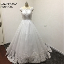 Buy Fashion Ball gown wedding dresses 2018 Lace Beaded Pearls Wedding gowns Plus size Vestido de noiva casamento Robe de mariee for $199.20 in AliExpress store