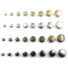 100pcs 6mm Mix 4 Colors Round Flat Spike Bead Metal Rivets DIY 4 Claws Accessories(China)