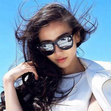 Fashion Optical discoloration Sunglasses Women Luxury Brand Designer Vintage Sun glasses Female Shades Big Frame Style Eyewear(China)