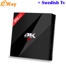 H96 PRO+3G 32G WIFI Media player tv box with European TV package Swedish African french Spanish IPTV code m3u Dutch UK Italy APK