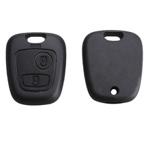 LARATH Car casa Replacement Key Case Shell Key Protection Cover for PEUGEOT 106 107 206 207 407 806 Funda Botones Mando+LOGO