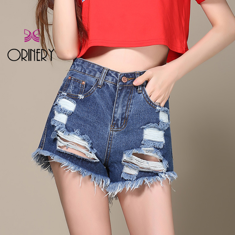 ORINERY New Designer Shorts Holes Jeans For Woman Loose Large Thin Stylish Raw Edge Hot Straight Pant In The SummerОдежда и ак�е��уары<br><br><br>Aliexpress