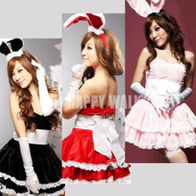 2017 New Christmas Show Cosplay Costume Sexy Fancy Bunny Rabbit Girl Uniform Game Uniforms Christmas Costumes
