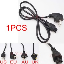 1pcs Wholesale AC Power Cord cable for laptop adapter lead Adapter EU, US, AU ,UK Plug All Available