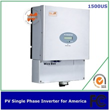 1500w single phase solar inverter MPPT transformerless UL FCC IEEE CSA approved for America(China)