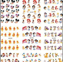 Large(1Set=11Sheets)BLE488-498 Cartoon Princess Nail Art Water Transfer Stickers Foils Watermark Decals DIY Beauty Nail Supplies(China)