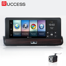 Ruccess 3G 7 inch GPS Navigation Car Camera DVR Android Navigator Dual Lens DVRs FULL HD Automobiles Video Recorder Dashcam(China)