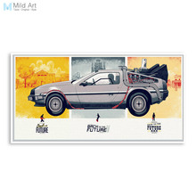 Back To The Future Vintage Movie Poster Car Poster Print Big Modern Pop Wall Art Picture Home Deco Canvas Painting No Frame Gift(China)