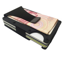 2017 Men Metal Slim Wallets Aluminum Money Clip Wallet With Blocking Case Purse For Men(China)