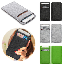 phone bag For iPhone 5 6 7 Wool Felt Wallet case For iPhone 6 6s 7 Case mobile phone pouch cases luxury Cover Lady Women Handbag(China)