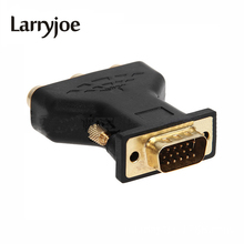 Larryjoe Hot Sale 3 RCA RGB Video Female to HD15-Pin VGA Styple Component Video Jack Adapter VGA TO RCA Adapter(China)