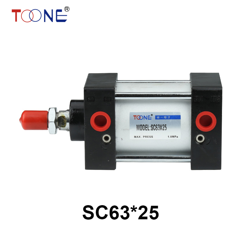 SC63*25 63mm Bore 25mm Stroke SC63X25 SC Series Single Rod Standard Pneumatic Air Cylinder SC63-25<br>