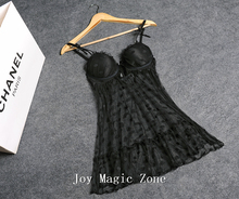yomrzl new arrival summer sexy lace women's nightgown, gauze sleepwear, temptation sleep clothes L230