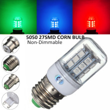 27 LED Bulb E27 E14 G9 B22 2.5W 5050 SMD Lamp LED Light Non Dimmable 200 Lumen PC Plastic Red/Green/Blue Lighting AC110V/220V(China)