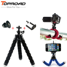 Gopro Camera Octopus Tripod Flexible Leg Mini Tripods with Mount Adapter For SJ4000 GoPro Hero For iphone Samsung Smart Phone