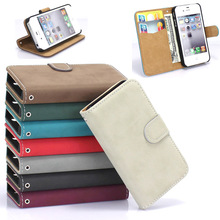 For iPhone 4 Cases High Quality Fashion PU Leather Case For Apple iPhone 4 4S Card Holder Wallet Phone Cover Bag Hard Back Case(China)