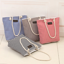 Buy New Cotton Canvas Summer Beach Bag Ladies Shoulder Bags Women Tote Bags Large Female Handbags Casual Striped-15 for $5.79 in AliExpress store