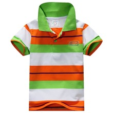 COCKCON Baby Boys Kid Tops T-Shirt Summer Short Sleeve T Shirt Striped Polo Shirt Tops