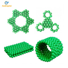 LeadingStar 216-Piece 5MM Fluorescent Buckyballs Neocube Magic Beads Magnetic Balls Puzzle DIY Intelligence Desk Toys zk30