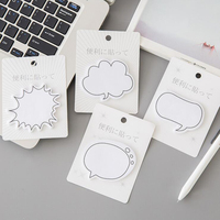 Clear Korean Dialog Series Post-it Paper Notepads Creative Fresh Fridge Message Schedule Memo Pads Concise Sticky Notes