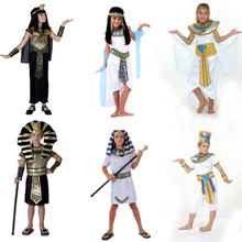 Umorden Halloween Costumes Boy Girl Ancient Egypt Egyptian Pharaoh Cleopatra Prince Princess Costume for Children Kids Cosplay(China)