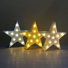 Decorative Light Star Design LED Plastic Marquee Light Battery Operated LED Marquee Sign for Home Party Christmas Decoration P40