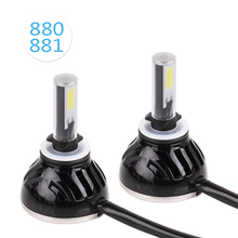 2PCS 880 881 H27 48W 4800LM LED Headlight Conversion Kit Auto COB DRL Bulbs Fog Lights 6000K White Replacement Hid Lamps