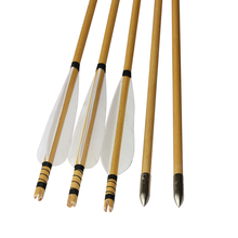 archery targeting arrows fit for 30-65lbs recurve bow fletched DIY turkey vane w/practice target arrowhead 12pcs