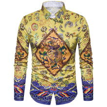 Buy 3D Flower Print Shirt Men 2017 Luxury Brand New Mens Dress Shirts Casual Cotton Men Shirt Slim Fit Long Sleeve Male Shirts Homme for $16.82 in AliExpress store