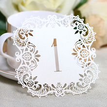 10pcs/set 3colors Hollow Lace Table Number Table Cards from 1 to 10 Rustic Wedding Centerpieces Decor Vintage Wedding Decoration