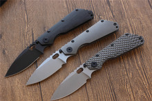 SMF Folding Knife D2 blade Carbon fiber Titanium handle Copper washer Camping knife outdoor hunting utility Knives EDC Tools top(China)