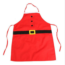 1Pcs Christmas Red Cloth Adult Child Pinafore Noel Decoration For Home Kitchen Dinner Party Festive Santa Claus Apron MR0059