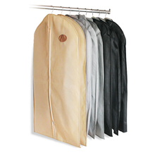 Non woven Garment Suit Coat Dust Cover Protector Transparent Wardrobe Storage Bag(China)