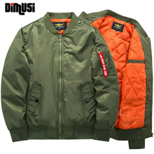 Bomber Jacket Men 2017 Thick Warm Parkas Winter Army Green Military motorcycle Flight Jacket Pilot Air Force Mens Bomber Jacket