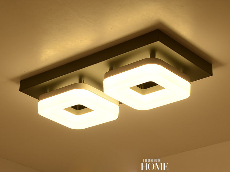 Modern LED PVC Stainless Steel Ceiling light Round / Square Lustre Luminarias Para Sala lamps for home aisle corridor balcony<br>