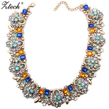 Ztech bohemian Statement Necklaces & Pendants jewelry & accessory vintage Luxury fashion necklaces Collier for women 2017(China)
