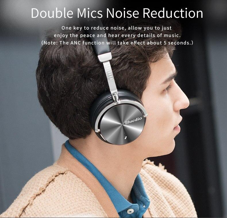 2017 New Headphone Earphones Bluedio T4S Bluetooth Headphones Headset Portable with Microphone for Music earphone