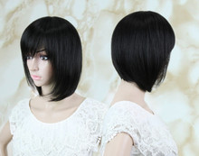 Black Short Wig Korean Style Synthetic Bob Short Afro Kinky Wavy Hair Lolita Wigs Heat Resistant Pelucas Cosplay Black Short Wig