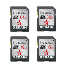 XEDAIN high quality 64GB/32GB/16GB SDXC Real Capacity SD Card Memory Card Transflash Flash Memory Card Free Gift Adapter