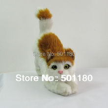 free shipping handmade cat model for home decoration(China)
